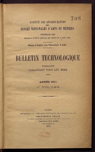 Bulletin technologique 1911
