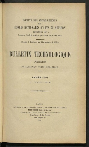 Bulletin technologique 1901
