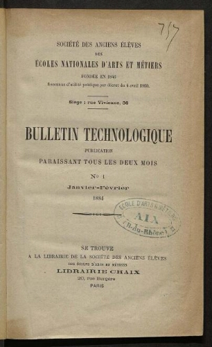 Bulletin technologique 1884