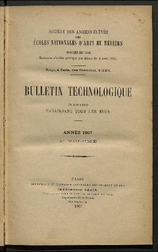 Bulletin technologique 1907
