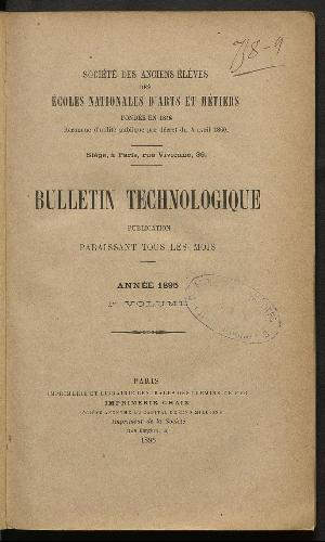 Bulletin technologique 1895