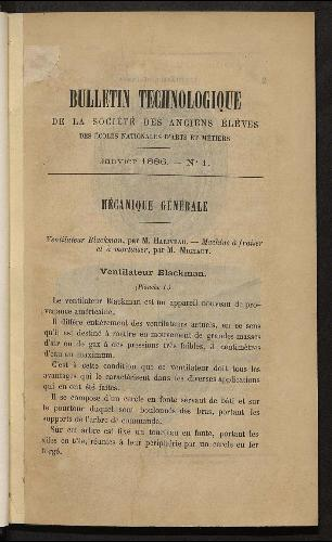 Bulletin technologique 1886