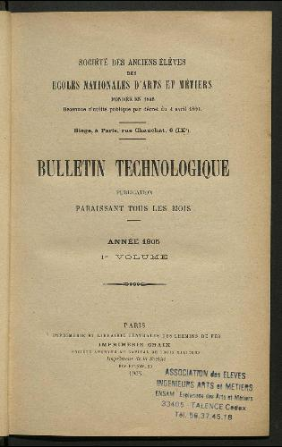Bulletin technologique 1906