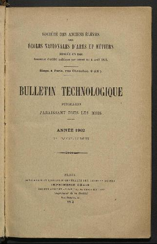 Bulletin technologique 1902