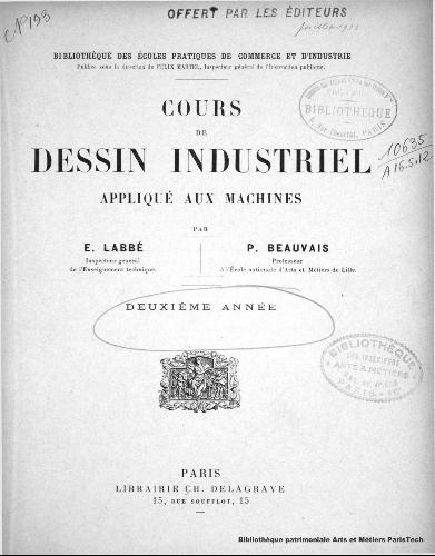 Bibliotheque Patrimoniale Numerique Cours De Dessin Industriel