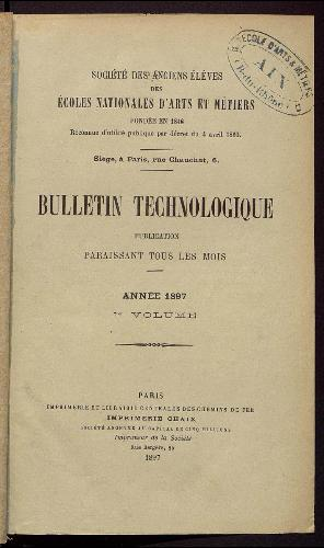 Bulletin technologique 1897