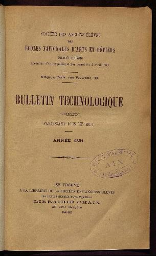 Bulletin technologique 1891