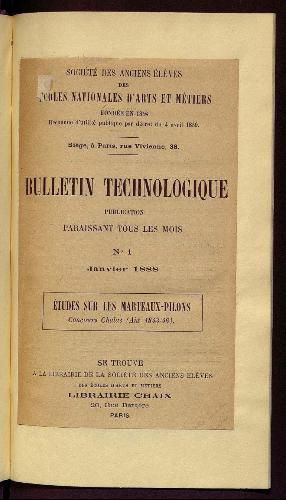 Bulletin technologique 1888