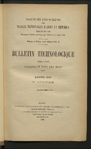 Bulletin technologique 1900