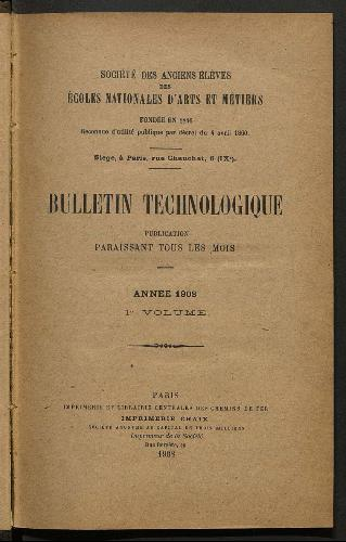 Bulletin technologique 1908