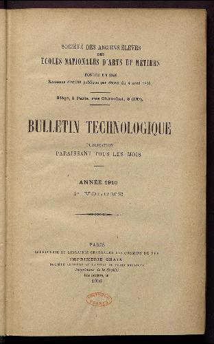 Bulletin technologique 1910